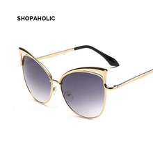 Pink Vintage Mirror Cat Eye Sunglasses Women Brand Designer Ladies Sun Glasses for Women Oculos Feminino Cateye Sun Glass