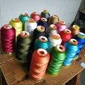 Прочная швейная нить из полиэстера, 900 метров, 0,38 мм, красный/синий/черный/серый, для джинсов/холста/кожи/дивана