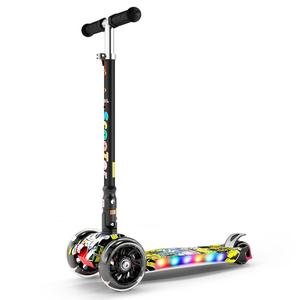 Infant Shining Kid Scooter 2-16Y Height Adjustable Foldable Children Balance Bike Light Flash Baby Ride With LED Light