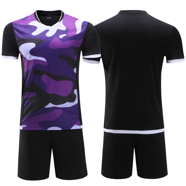 28d22af25 2017 polyester kids soccer jerseys sets blank boys football team kits uniforms  breathable men soccer training jersey suit design