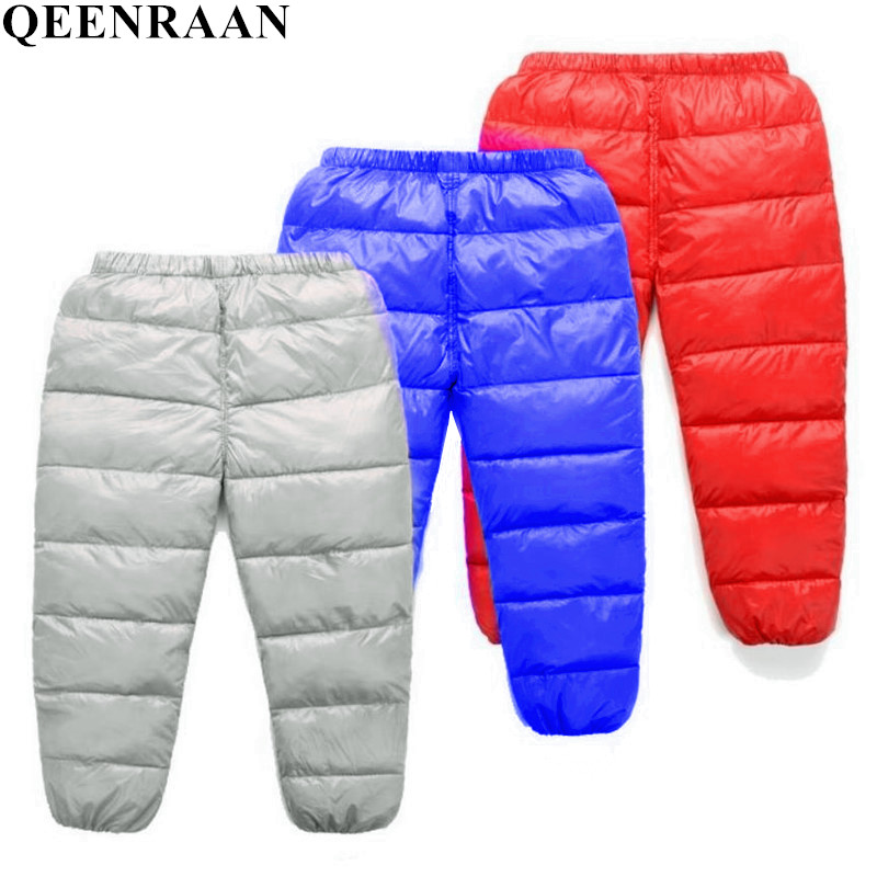 все цены на 2018 New Boys Pants Girls Leggings Children Pants Girls Winter Children Down Warm Trousers Baby Autumn kids Boys Child Clothes
