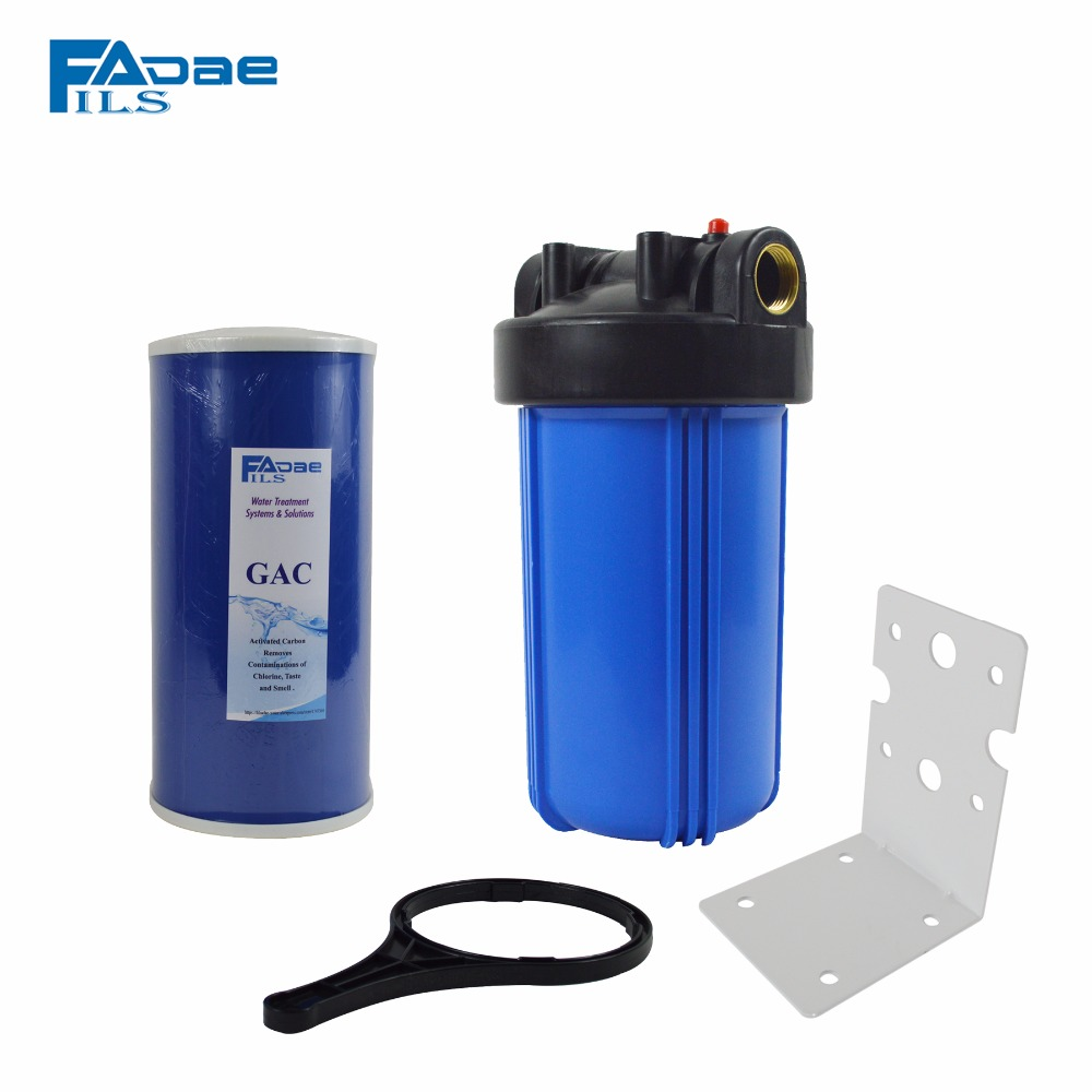 Whole House Jumbo Water Filter with 4.5in. x 10in. Granular Activated Carbon Filter/Mounting Bracket/Wrench/Screw,1in. port цены онлайн