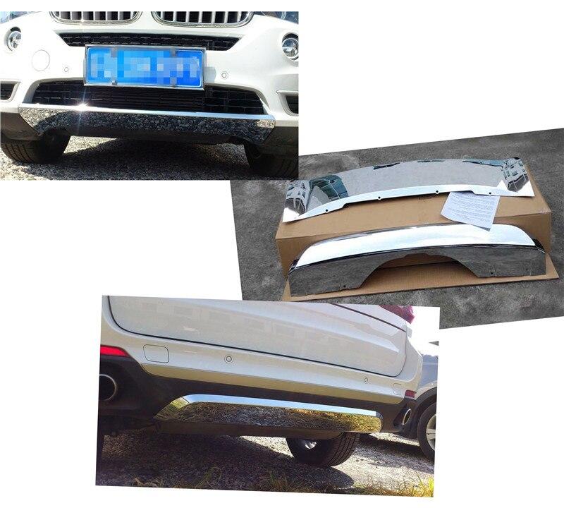 ABS Chrome спереди и сзади бампер доска гвардии опорная плита бар для BMW X5 F15 зеркало serface