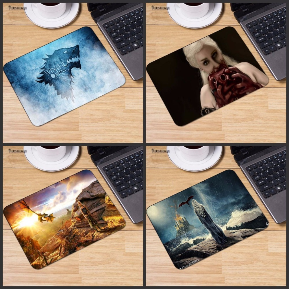Yuzuoan Game of Thrones mouse pad gear mousepads gaming mouse pad gamer Small Size 18*22CM personalized pad mouse keyboard pad
