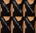 Black Bride to Be Sash Hen Party Sash Mother of Bride/Groom Maid of Honour Sash Bachelorette Party Sashes Girls Night Supplies