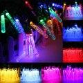 20 светодиодный садовый светильник на солнечной батарее наружные светодиодные солнечные лампы Красочные сказочные водонепроницаемые гирл...