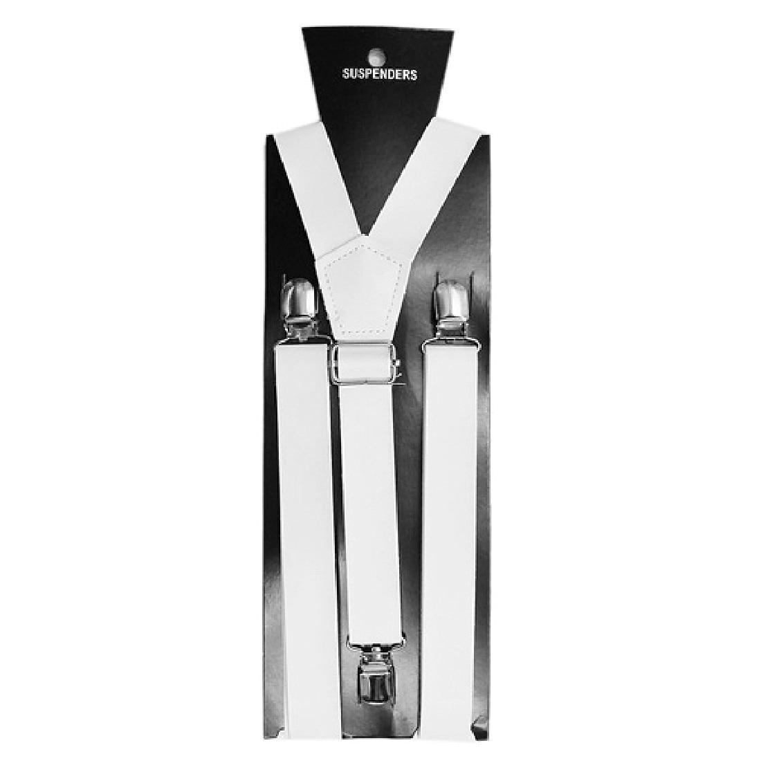 New Mens Womens Unisex Clip-on Suspenders Elastic Y-Shape Adjustable 2.5cm*100cm Strap Dress Accessories Strap Apparel 2018 Hot