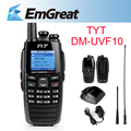 TYT DM-UVF10 Digital Two Way Radio 256CH VHF 136-174 UHF 400-470MHz Dual Band DTMF Walkie Talkie Dual display Radio P0018694