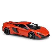 1:24 Diecast Metal Sport Car Model Toys For Mclaren 675lt With Steering Wheel Control Front Wheel Steering Toy For Children Gift