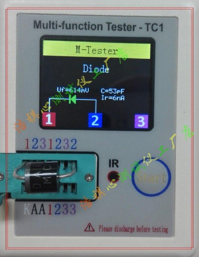 New version Transistor Tester TFT Diode Triode Capacitance Meter LCR ESR NPN PN