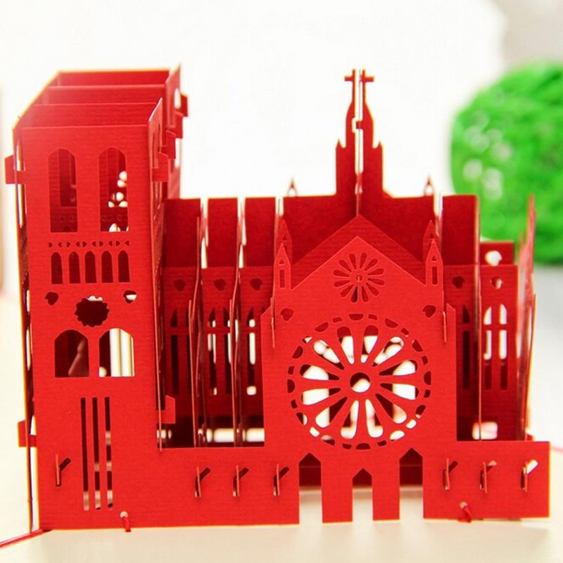 12 pieces/lot)Paper Art Model Diy Handmade Model Notre Dame de ...