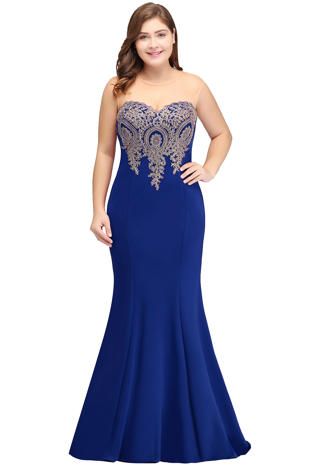 Mermaid Plus Size Long Prom Dresses Applique Sleeveless Green Prom Gown vestidos de gala in Prom Dresses from Weddings Events