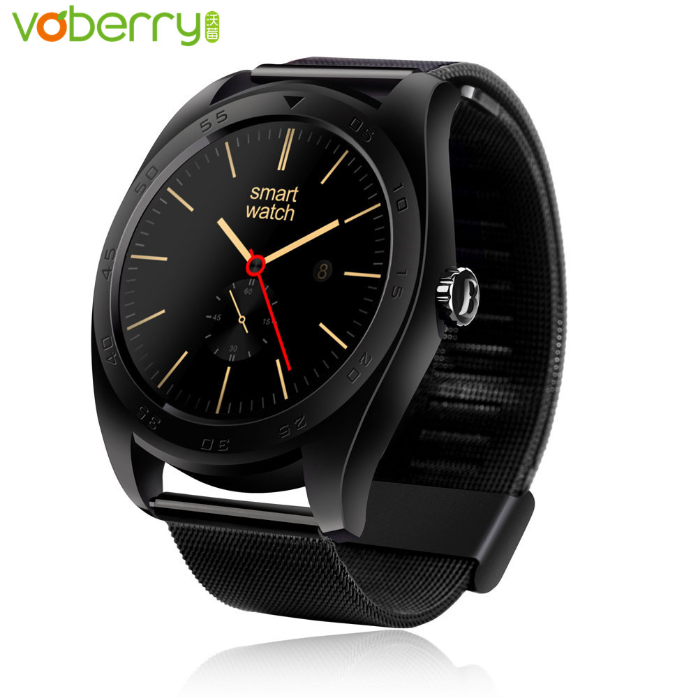 VOBERRY K89 Smart Watch IPS Round Screen Smartwatch Fitness Tracker Heart Rate Monitor Bluetooth Watches for IOS Android s3 bluetooth waterproof smart watch wristband fashion women ladies heart rate monitor fitness tracker smartwatch for android ios