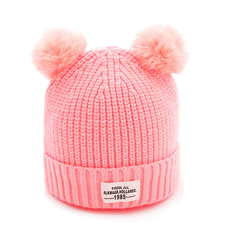 baby caps knitted hat 0-12 months cute baby warm wool hat Autumn and winter new high quality hot sale 2017 Soft baby hat cute the high quality knitting wool hat children winter warm knitted cap girls photography headwear caps