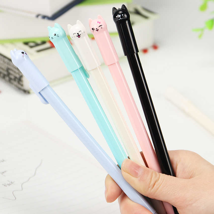 Cute Plastic The Wagging Cat Gel Ink Pen Promotional Gift Stationery School Writing Pens Office Supply