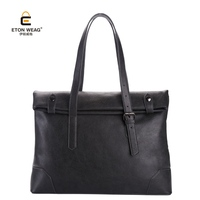 ETONWEAG Split Leather Men Tote Bag Famous Brand High Capacity 14 Laptop Briefcase Gentleman Business Work