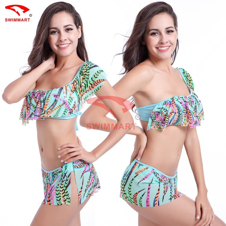 SWIMMART <font><b>2017</b></font> <font><b>New</b></font> <font><b>Sexy</b></font> <font><b>Bikinis</b></font> <font><b>Women</b></font> <font><b>Swimsuit</b></font> <font><b>High</b></font> <font><b>Waisted</b></font> Bathing Suits Swim Halter Push Up <font><b>Bikini</b></font> Set Plus Size Swimwear XXL image