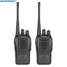 2pcs Baofeng BF 888S Walkie Talkie Transceiver UHF Intercom Two Way Radio Handheld cb Radio BF