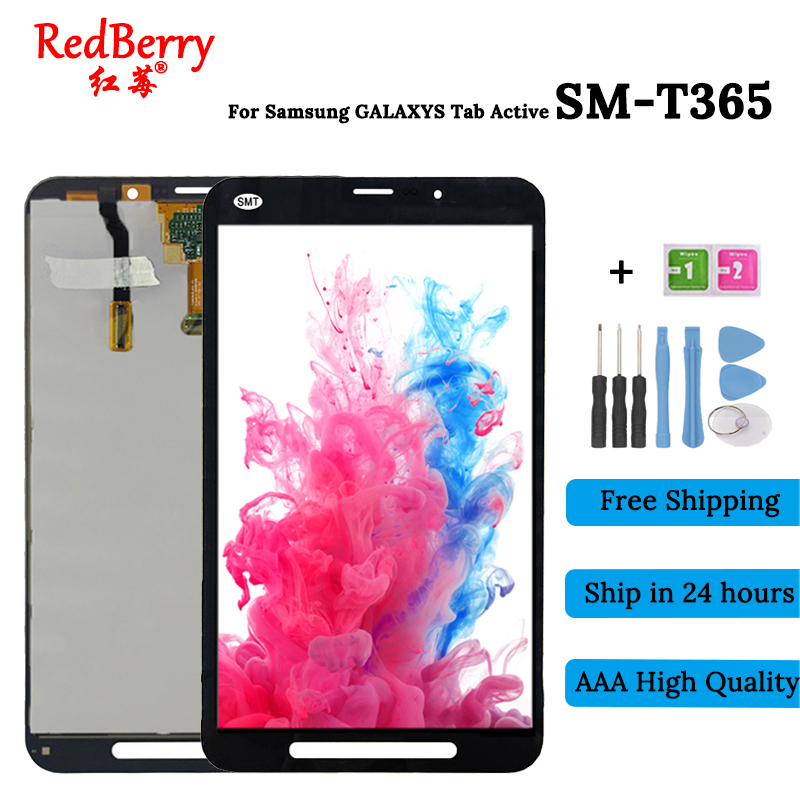 New For Samsung Galaxy Tab Active SM-T365 T365 LCD Display Panel With Tablet Touch Screen Digitizer Assembly Replacement Parts lcd display touch digitizer screen glass assembly for samsung galaxy j5 j5008 sm j500f gold replacement pantalla parts