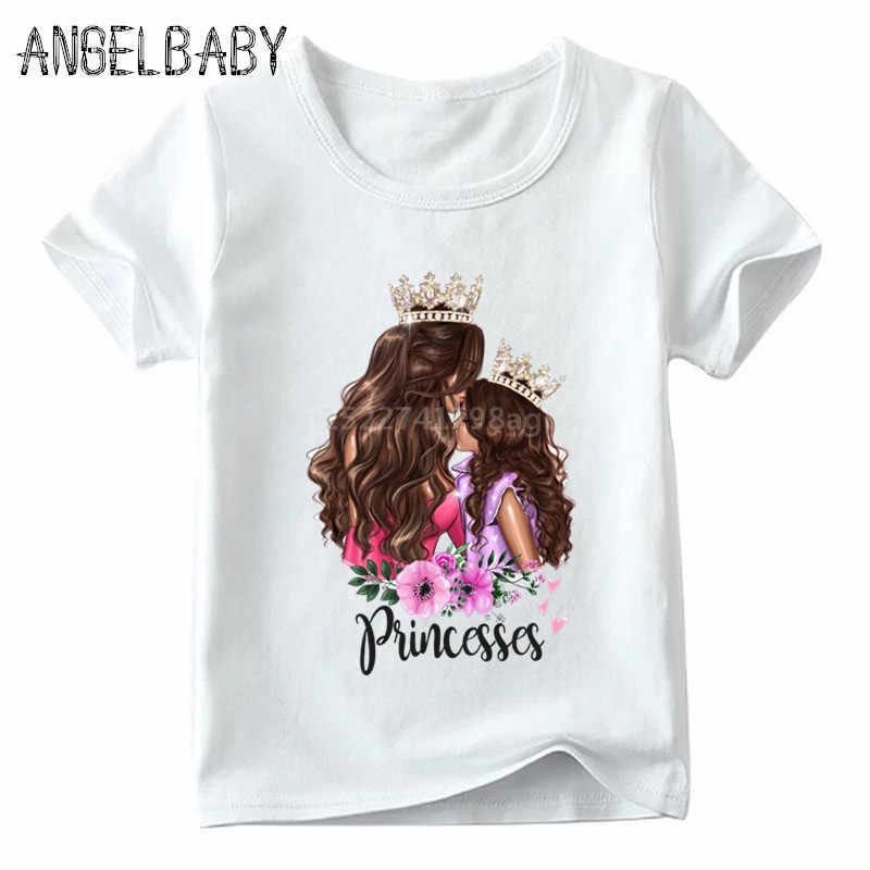 Pasujące rodzinne stroje super mom i córka drukuj chłopcy dziewczęta koszulka prezent na dzień matki dla dzieci ubrania dla dzieci i kobiety śmieszne Tshirt