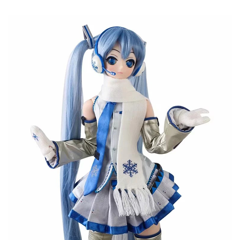 61CM Japan Anime Hatsune Miku Snow Ver Vocaloid Doll Action Figure Change Clothes Ver Model Dolls