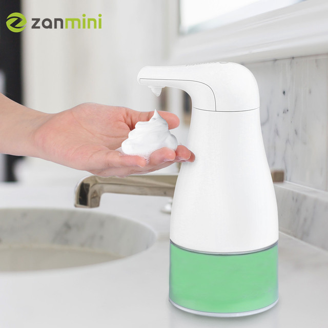 zanmini 250ml Touchless Foaming Soap Dispenser Infrared Automatic Foam Soap Dispenser Smart Sensor Induction Hand Sanitizer