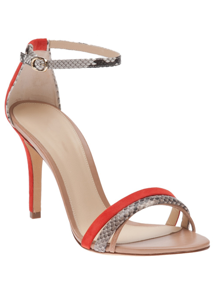 ФОТО Red Sude Snake Skin Women Sandal Ankle Strap Open Toe Ladies Shoes Thin High Heels Stilettos Ladies Shoe Made-to-order Plus Size