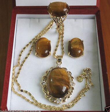 ce84e1a8b1c Productos anillo de piedra Ojo de Tigre Pendientes pendiente conjunto    al  por mayor reloj de cuarzo piedra CZ cristal en Sistemas de la joyería de  Joyería ...