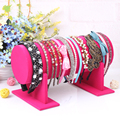 Quality colorful new model bracelet holder leather bracelet holder watch frame headband jewelry storage rack accessories display
