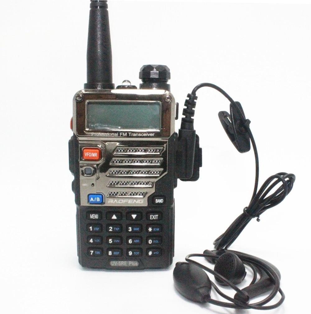 BaoFeng Walkie Talkie UV 5RE Plus Black Ham Amateur Two Way Radio Dual Band 136 174