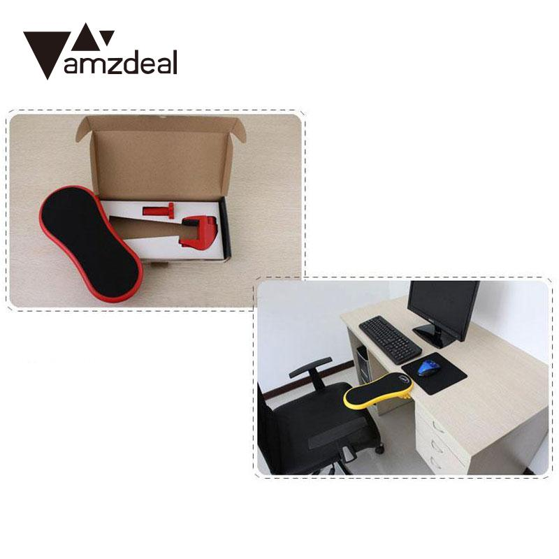 amzdeal computer table desk arm support mouse pads arm wrist rests chair extender ergonomic computer mouse
