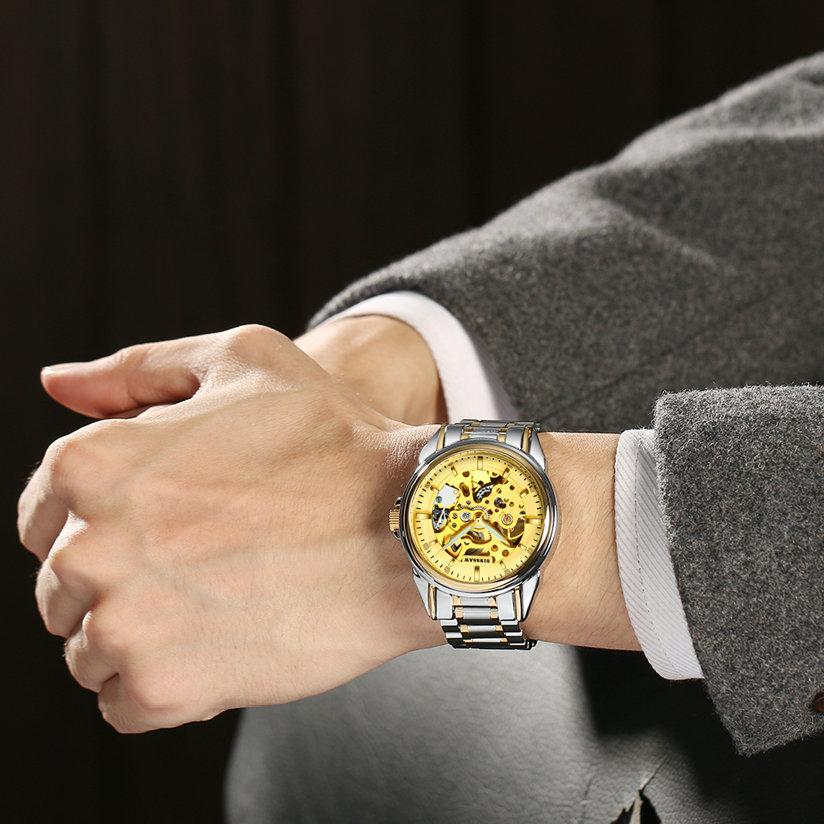 Ерлер BINSSAW Люкс Жаңа қара қара watch - Ерлердің сағаттары - фото 2