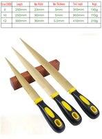 Lot Başına toptan 3 Boyutları 8 10 12 INC Carpenter Ağaç İşleme Aracı Ahşap Dosya marangoz Dosya Kırmızı Sert Ahşap Dosya Ile Pirinç Fırça