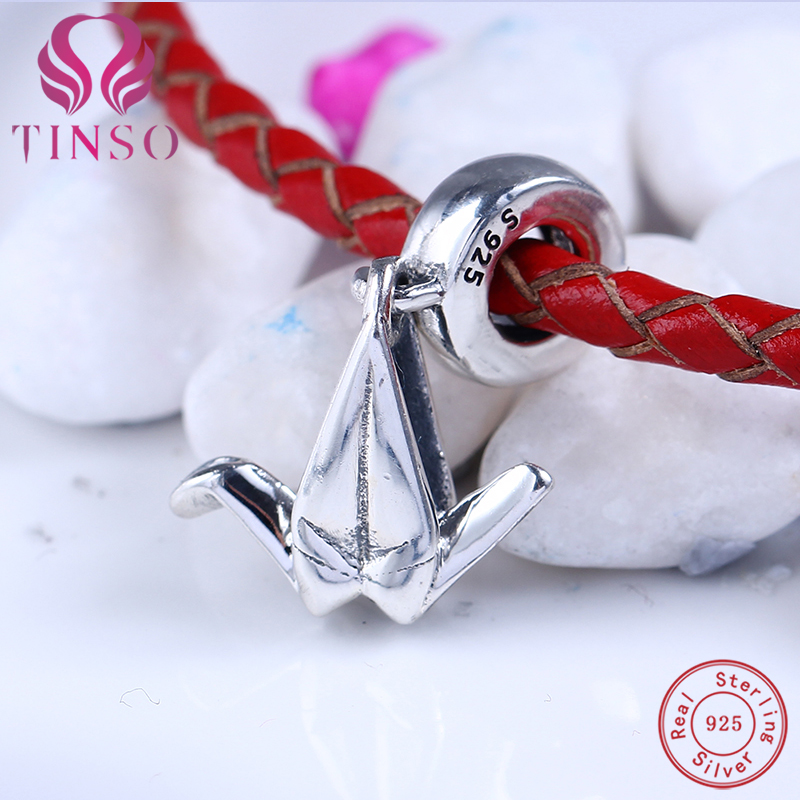 Authentic 100% 925 Sterling Silver Cute Bird Pendant Beads Fit Pandora Charms Original Bracelet for Jewelry Making