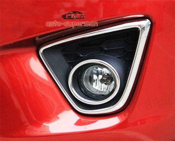 4PCS S.Steel Front Fog Light Lamp cover trims Chrome FOR Mazda CX5 CX-5 2013 2014
