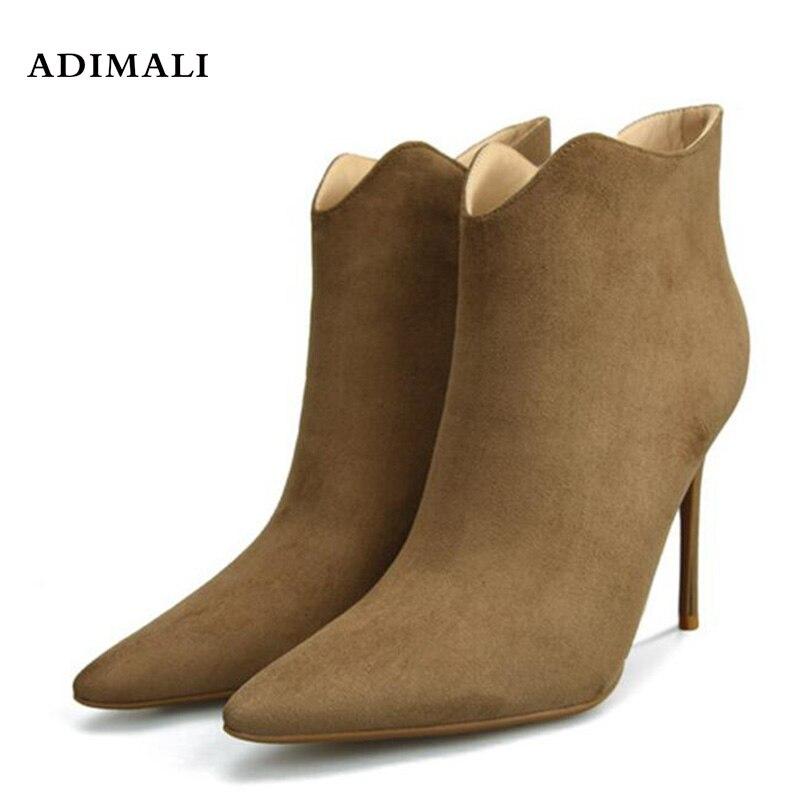 Модные короткие ботинки на платформе короткие баррель осень-зима женские кормящих обувь на высоких каблуках 2018 новый стиль дизайна ботильо...
