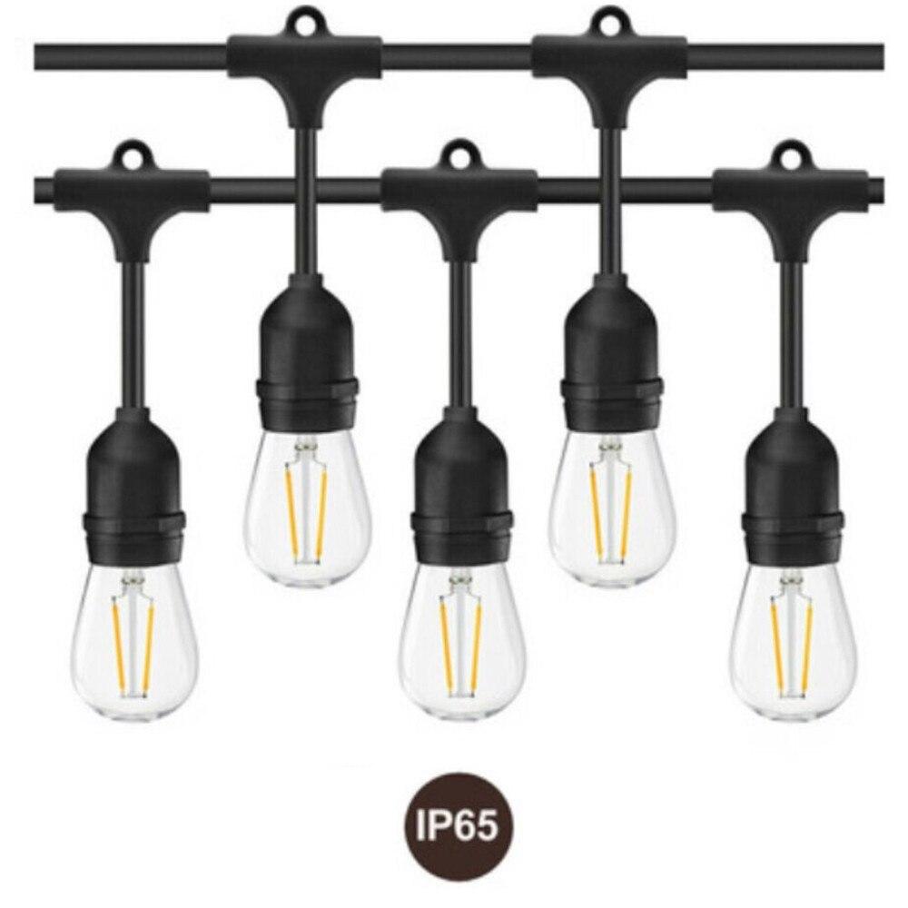 Waterproof LED Outdoor String Lights Hanging 2W Vintage ...
