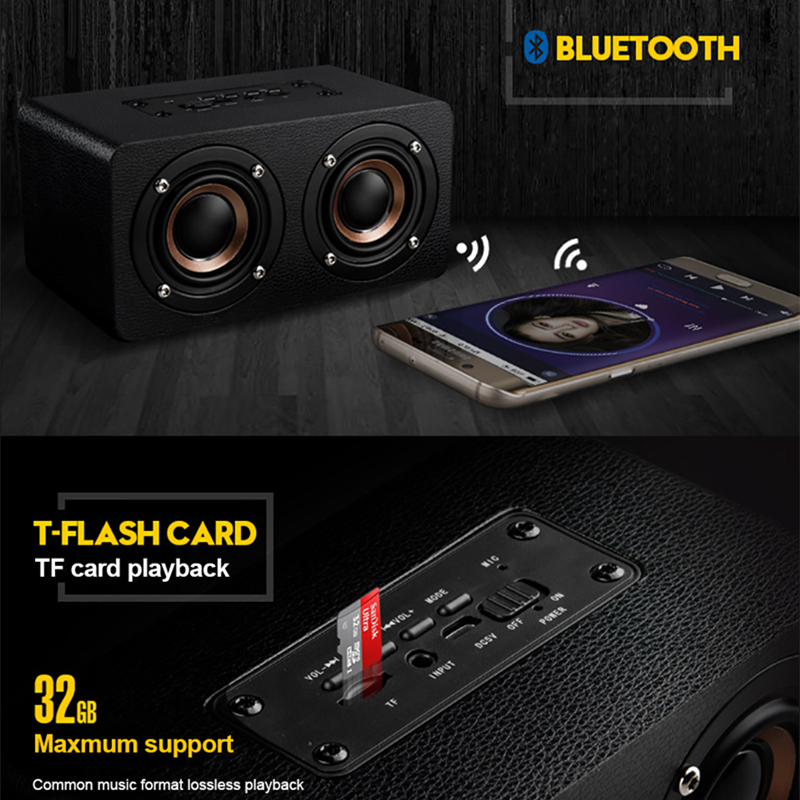 Image 2 - TOPROAD Portable 10W Bluetooth Speaker Wireless 3D Stero Home Theater Desktop Speakers caixa de som Support FM Radio Aux TF-in Portable Speakers from Consumer Electronics