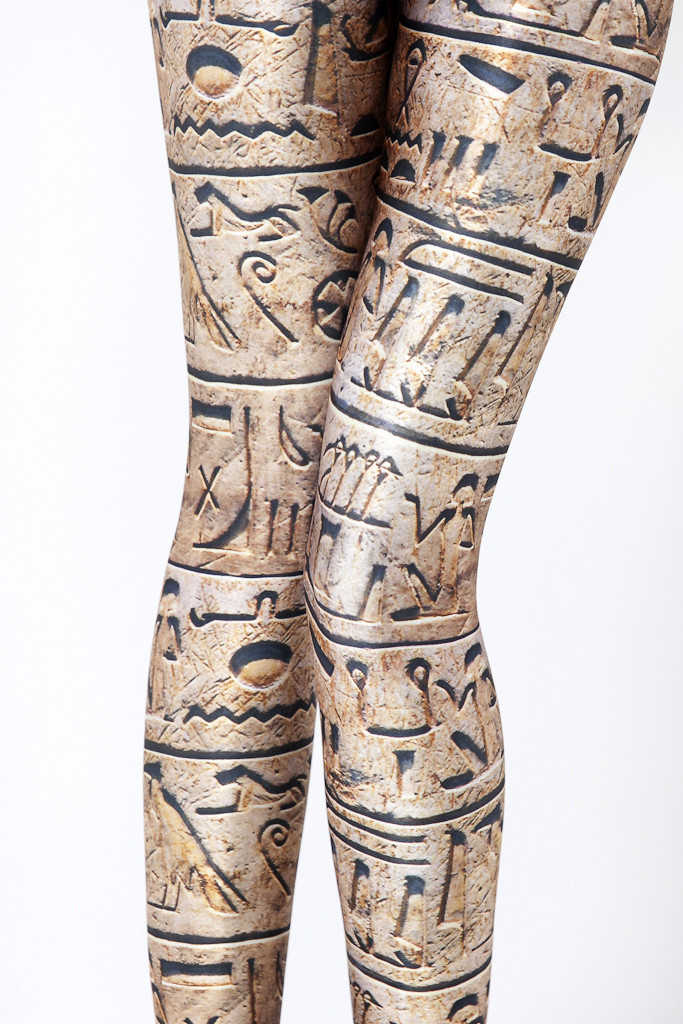 Fashion Women Writing Of Ancient Egypt Leggings Slim Fit Thin Elastic Polyester Cos Party Pants Casual Trousers Drop Shipping
