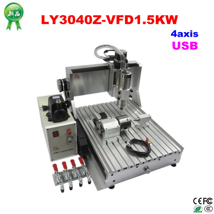 NO tax to russia! 1.5KW CNC router engraver with usb port LY3040Z-VFD cnc milling machine cnc lathe for wood working, can do 3D no tax cnc router lathe 3020 z d300 cnc router engraver cnc milling machine with usb adapter for wood carving
