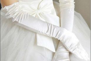 O vestido de casamento da noiva luvas formais vestido de acessórios suprimentos 2012 luvas de cetim projeto longo
