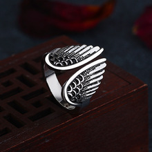 new arrival retro vintage rings Angel wings ring for women party jewelry wholesale price silver accessories