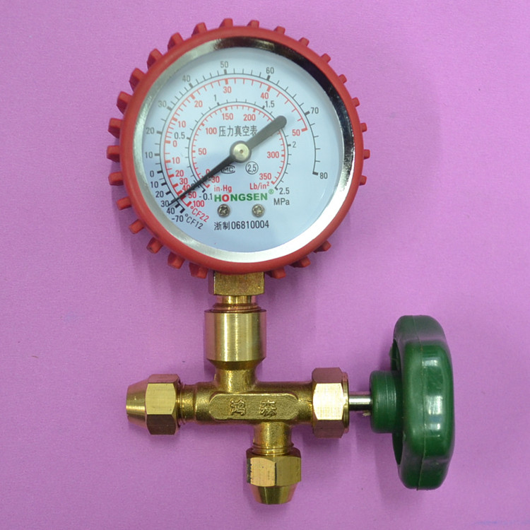 Hs488ah pressure gauge valve table refrigerant table plus valve table valve 2.5p hs 1221 hs 1222 r410a refrigeration charging adapter refrigerant retention control valve air conditioning charging valve