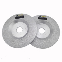 DIATOOL 2pcs Diameter 5 Convex Vacuum Brazed Diamond Grinding Cup Wheel 125mm Grinding Disc All Stone