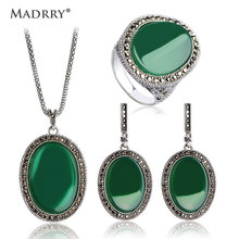 Newest Style Spiral Round Necklaces Pendants & Earrings Ring Jewelry Sets Personality Vintage Jewelry Colar Pendientes Anel
