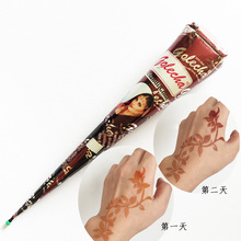 1 Piece Brown Color Henna Mehandi Cone 2017 Hot Hand Body Art Paint Makeup DIY Drawing Indian Henna Tattoo Paste Cone Waterproof fito henna color отзывы
