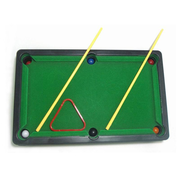 Hot Mini pool tabletop game set toys for children mini billiard table with cues triangle and  sc 1 st  AliExpress.com & Hot Mini pool tabletop game set toys for children mini billiard ...