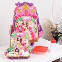 Колесных школьный рюкзак колеса детей путешествия Сумка Тележка школьный детей школьные сумки для девочек Съемная Mochila Escolar