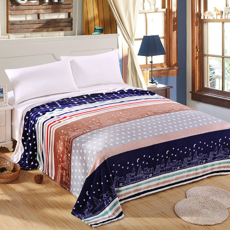 To On For The Sofa Bed Cute Stars Fuzzy Plaid Blankets Nobility Lazy