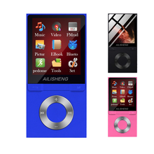 Bluetooth MP4 Music Video Player 8GB 1.8 TFT Screen MP3 Pedometer With FM Radio E-Book Audio Portable Walkman